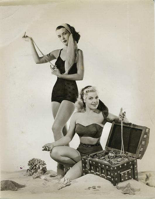 Joan Dixon and Cleo Moore