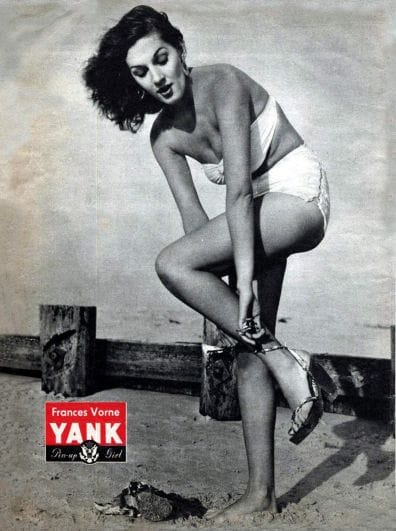 Frances Vorne Yank Pin-Up Girl of the Year 1945