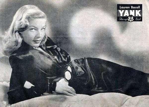 Lauren Bacall Yank Magazine Pin Up