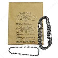 Original WW2 Dog Tag Chains