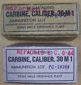 Kings Mill M-1 Carbine 50 Round Ammo Box