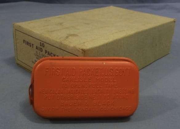 WWIi Red Carlisle Bandage