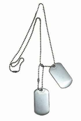 how to put military dog tags on