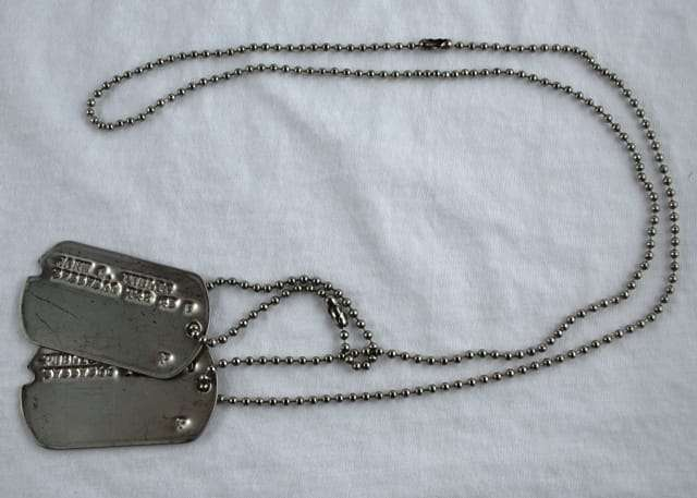 Ww Ii 3rd Type Dog Tags Type Iii Notched Dogtags