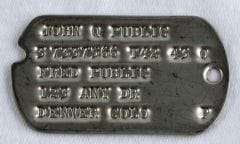 WW2 Dog Tags Type 2