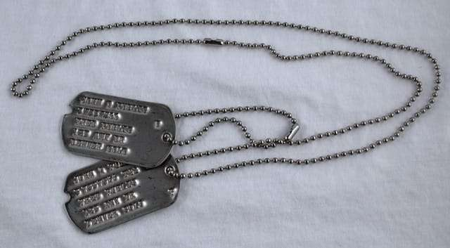 wwii dog tag 2nd type 1941 to 1943 ww2 dog tags