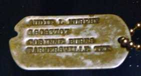 Audie Murphy Dog Tags