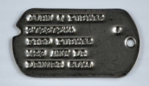 Type 1 Dog Tags 1940 -1941