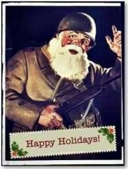 WW2 Dog Tags - Merry Christmas - Santa WWII Dog Tags width=