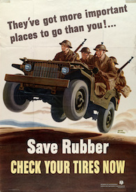 World War II Today: December 27 - US announces rationing of tires and all rubber goods, effective January 5.