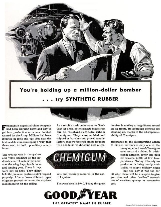 Goodyear Rubber WWII Ad