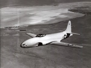 World War II Today: January 8 - Lockheed XP-80 jet plane at Muroc Army Air Base
