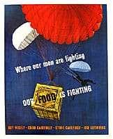 Food Drop WW2 Poster