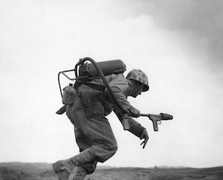WW2 Today: February 20 - Marine with Flamethrower Iwo Jima