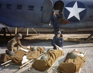World War II Today: February 18 - Flight nurses in training at Bowman Field, Kentucky