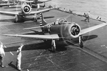 World War II Today: March 4 - USS Enterprise Dive Bombers