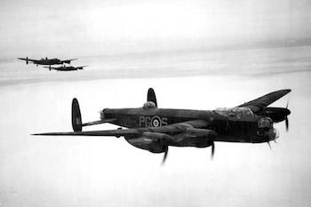 World War II Today: March 3 - RAF Lancaster in Flight