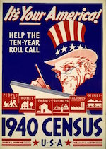 World War II Today: April 1 - 1940 United States Census Poster