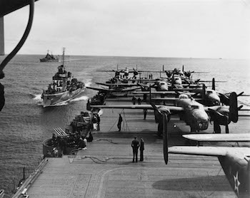 World War II Today: April 2 - USS Hornet with B25s