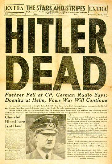 World War II Today: April 30 - As Soviets advance in Berlin, Adolf Hitler and Eva Braun commit suicide.
