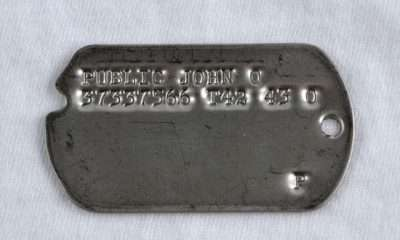 WW2 Type 4 Dog Tags - Late War