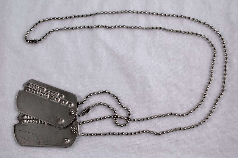 Type 4 Dog Tags on Chains