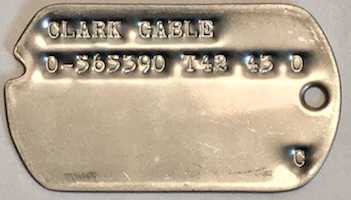 Clark Gable in WWII Dog Tags