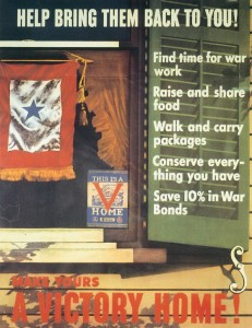 "World War II Today: June 8 - The United States begins the ""V-Home"" campaign to encourage rationing, scrap collection, and other patriotic wartime activities."