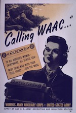 The U.S. Army Women's Army Auxiliary Corps (WAAC) begins its first training class at Fort Des Moines, Iowa.