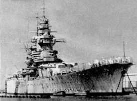 World War II Today: July 7 - French battleship Richelieu at Dakar, 1941 (US Navy photo)