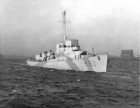 World War II Today: July 18 - The first destroyer escort built by the US for the British, HMS Bayntun, Boston Harbor, 8 Feb 194