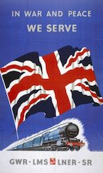 World War II Today: August 27 - British railway poster, WWII