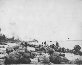 World War II Today: September 15 - US Marines on Orange Beach on Peleliu, 15 September 1944 (US Marine Corps)