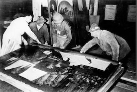The Ghent Altarpiece recovered from the Altaussee salt mine, 1945 (US National Archives)