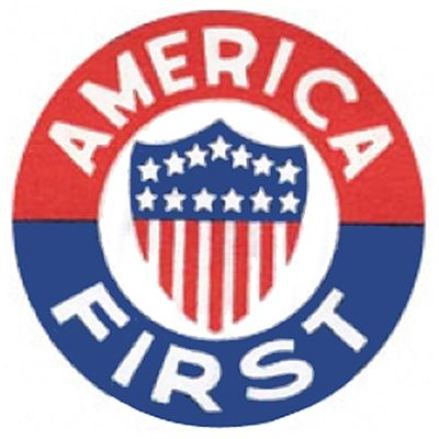 World War II Today: September 4 - Logo of America First Committee (isolationist), 1940-41.
