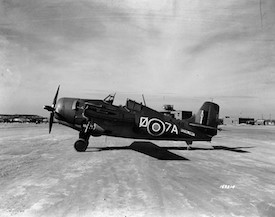 Royal Navy Grumman Marlet Mk. II fighter from the aircraft carrier HMS Formidable at Oran, Algeria, December 1942 (US Navy photo)