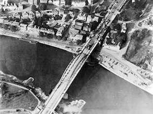 World War II Today: September 21 - The bridge over the Nederrijn near Arhnem, the Netherlands, circa 19 September 1944. (Imperial War Museum)