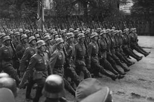 World War II Today: September 24 - German troops marching through Warsaw, September 1939 (US National Archives)