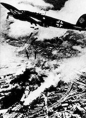 World War II Today: September 25 - German Heinkel He 111 bomber over Warsaw, September 1939