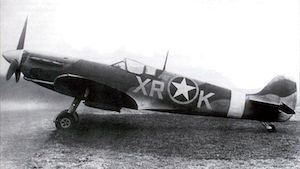 World War II Today: September 29 - Spitfire MK V of US 4th Fighter Group, 1942; note USAAF insignia overlying the RAF roundel (US Army Air Force photo)