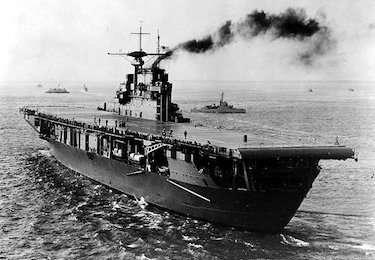 World War II Today: October 20 - USS Hornet (CV-8), late 1941 (US Naval Historical Center)