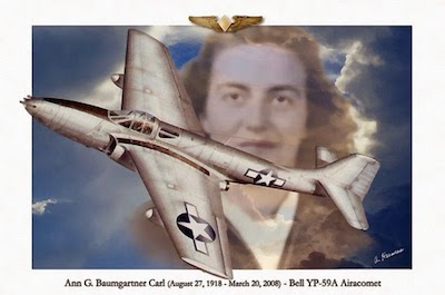 World War II Today: October 14 - Ann Baumgartner first WASP to fly a Jet