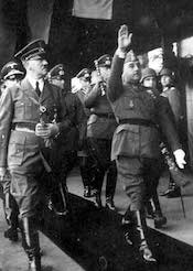 World War II Today: October 10 - Adolf Hitler and Francisco Franco, Hendaye train station, France, 23 Oct 1940