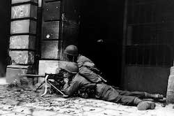 World War II Today: October 11 - US 26th Infantry in the streets of Aachen, Germany, 15 October 1944
