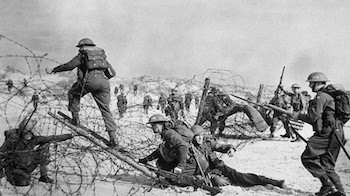 The best-known D-Day, but neither the only, nor the first: British soldiers of the Suffolk Regiment on Sword Beach