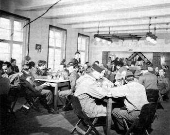 Ice cream parlor established to boost morale during demobilization