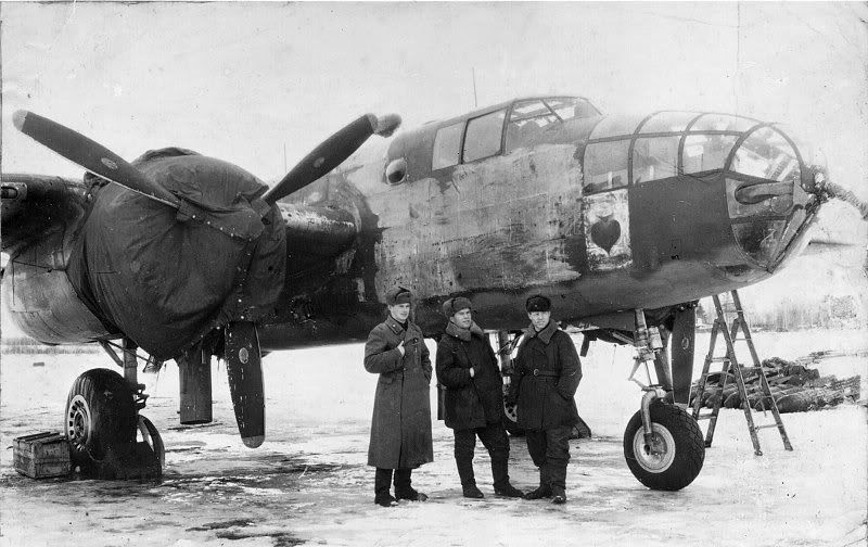 Doolittle Raiders B-25 that landed in the Soviet Union and was confiscated.