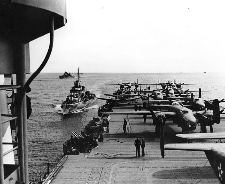 Tokyo Raiders on the Deck of the USS Hornet