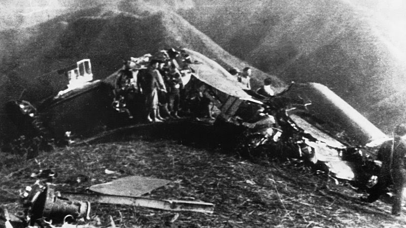 Jimmy Doolittle's bomber after it crashed in China