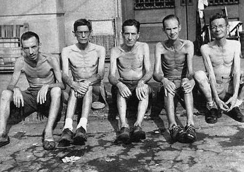 Prisoners rescued from one of the other Japanese internment camps on Luzon